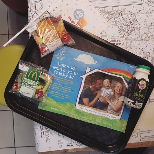 mcdonalds food flatlay fruit and veg