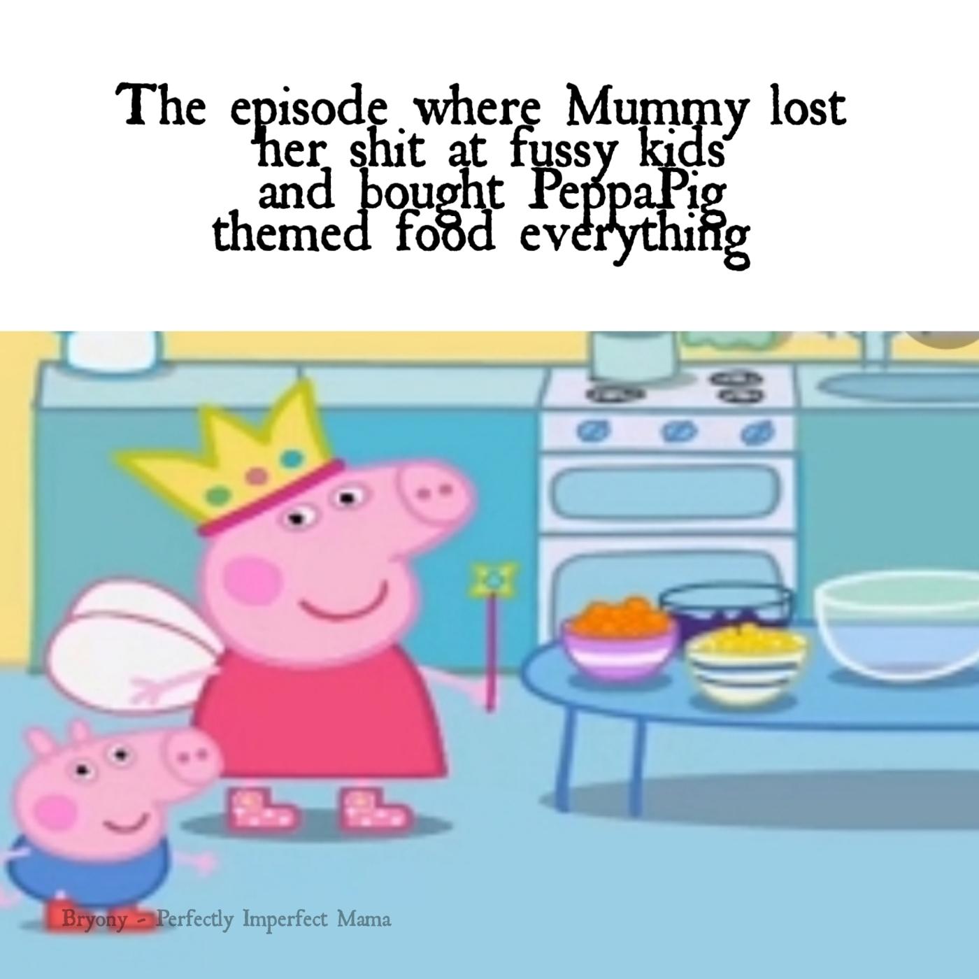 peppa pig themed food
