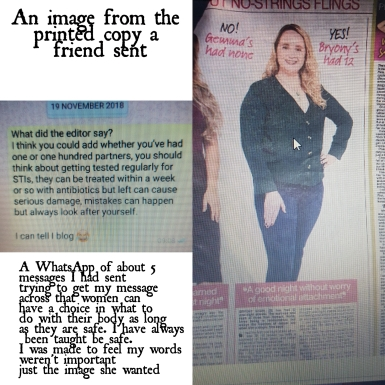 article image and text