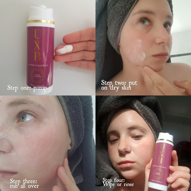 uxb face cleanser with antioxidants