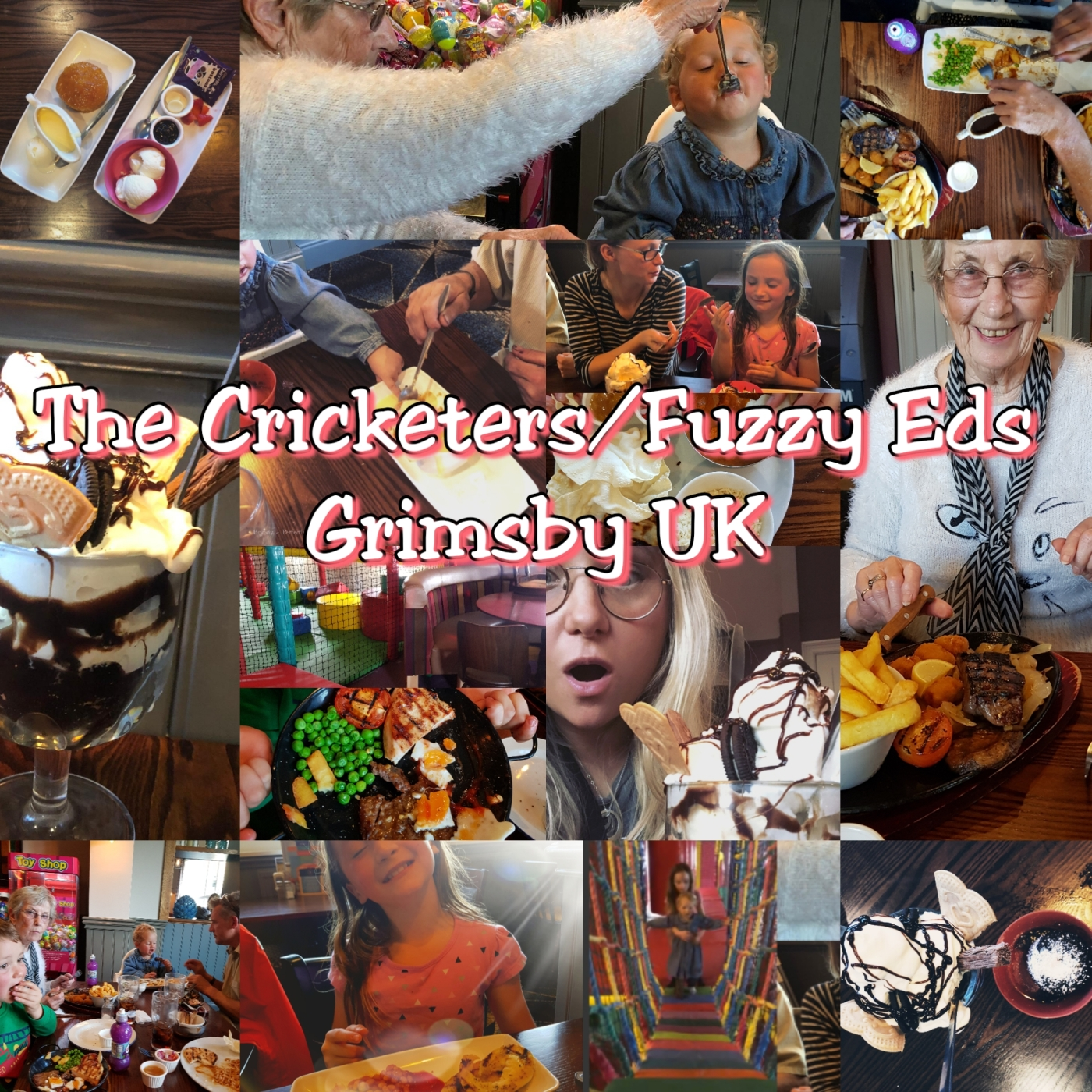 photos of family and food at the cricketers